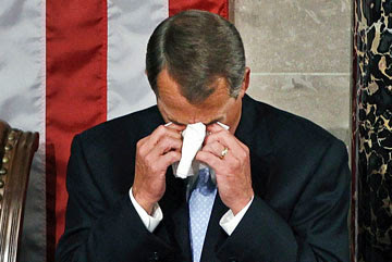 John Boehner Crying...again