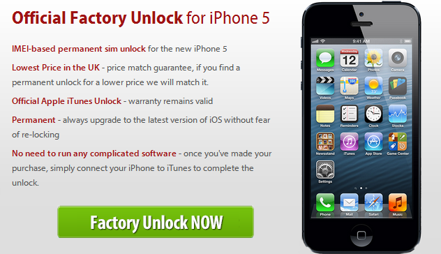 unlock iphone 5 Official iPhone 5 Factory Unlock Service