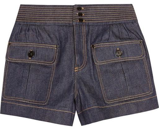 Model celana pendek denim dari Chloé ($596)