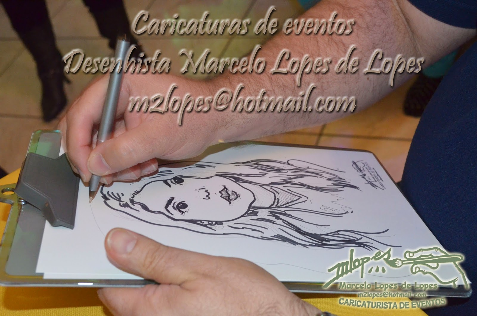 Contrate o Desenhista Marcelo Lopes de Lopes para sua festa