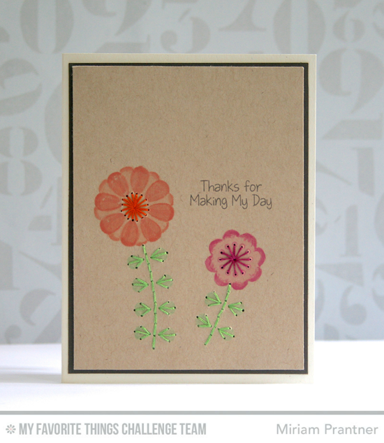 Thanks for Making My Day Card by Miriam Prantner featuring the Miss Tiina Build-able Blooms and Birdie Brown You're Super stamp sets #mftstamps