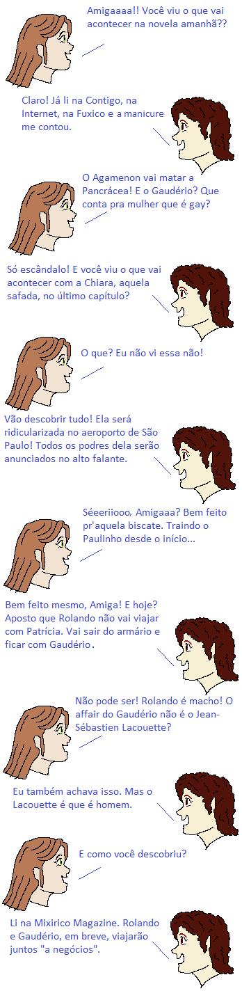 mulheres comentando novela