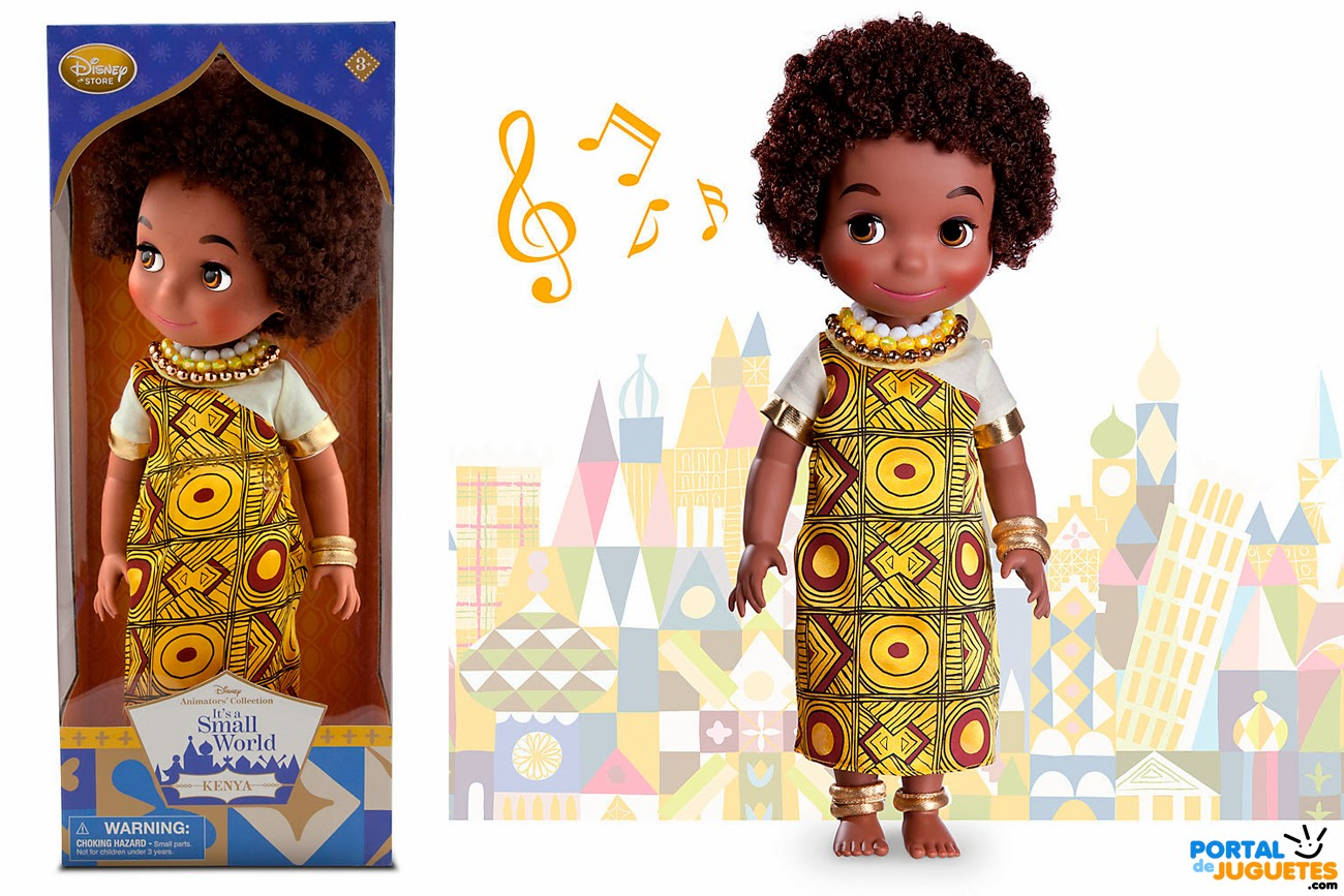 muñeca kenia its a small world disney animators