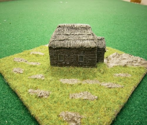 PS41 WWII Russian tiled hut, rendered walls