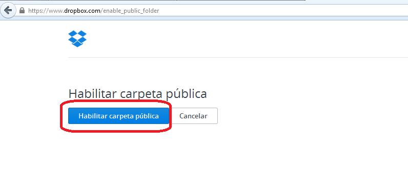Carpeta pública Dropbox
