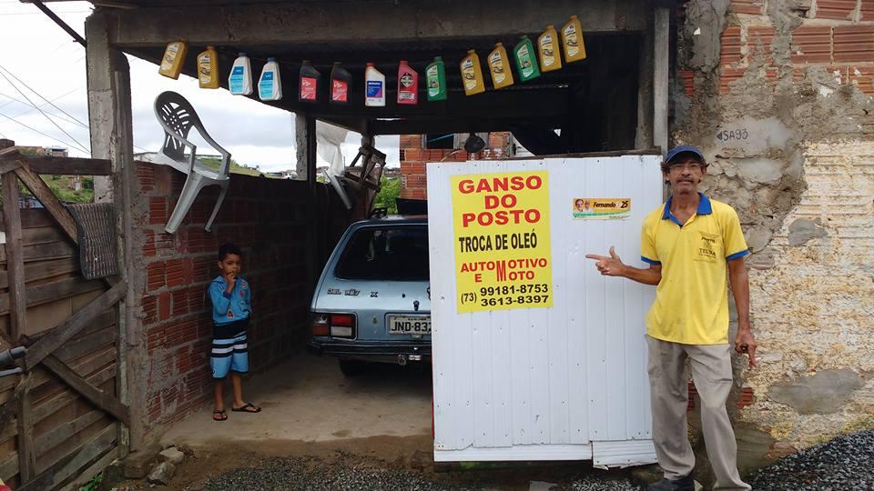 VAI TROCAR O ÓLEO DE SEU CARRO PASSE EM GANSO DO POSTO NA RUA SENHOR DOS PASSOS