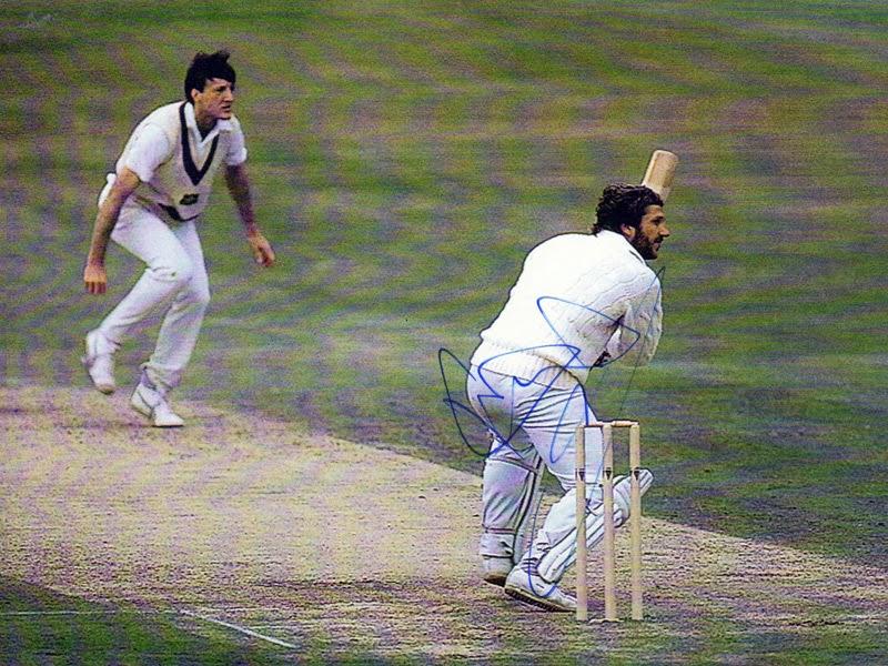 Ian Botham signed Ashes cricket memorabilia