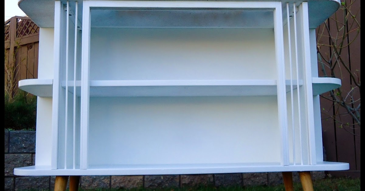 Little Green Table...: White Mid Century Bookcase