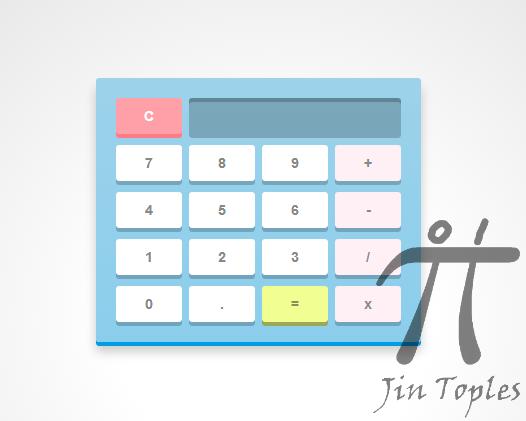 Cara Membuat Kalkulator Keren Dengan CSS3 dan Javascript | Jin Toples ...