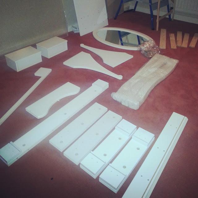 Hemnes flat pack dressing table
