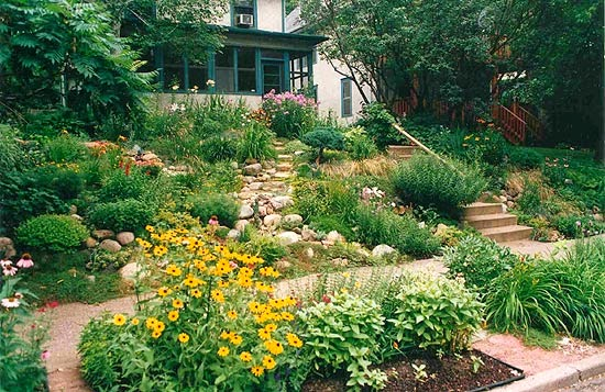 Design a garden with small hills for Landscape ideas for hilly backyards