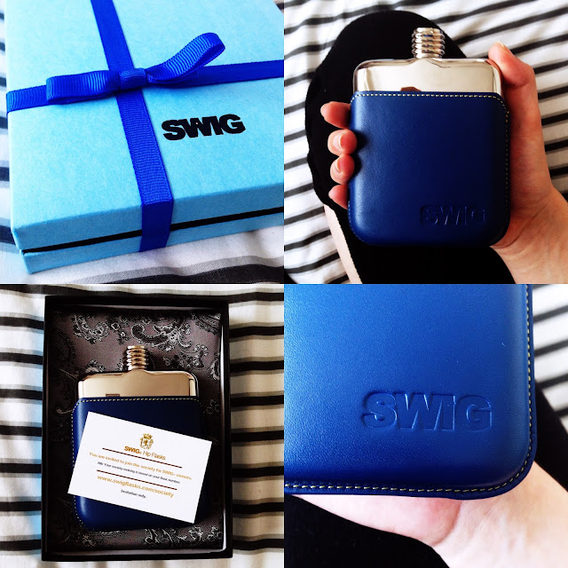 executive blue SWIG flask