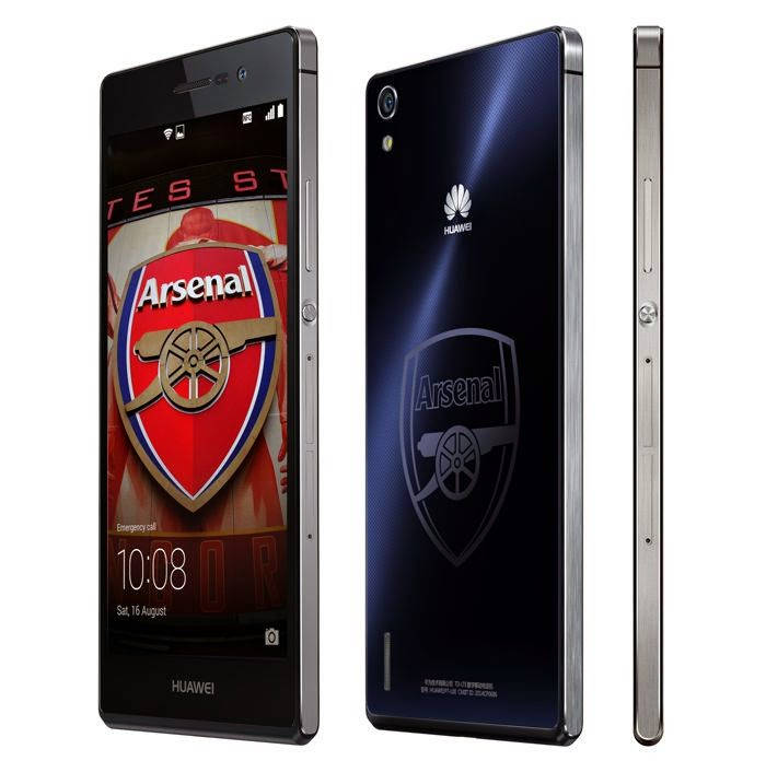 Huawei Ascend P7 Arsenal Edition, Huawei Ascend P7 review, Huawei Ascend P7 Arsenal Edition review, the gunners, Arsenal fans, Arsenal fans club, Arsenal smartphone, new Android smartphone, Barca vs Arsenal, 4G LTE, foto selfie, foto groufie