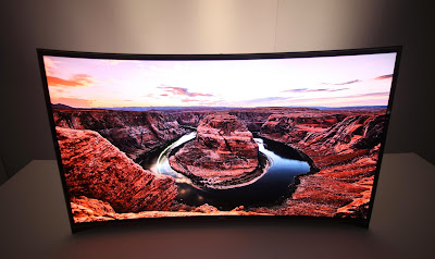 10. Samsung Curved Glass LCD TV