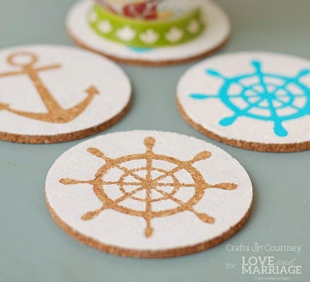 DIY Nautical Coasters