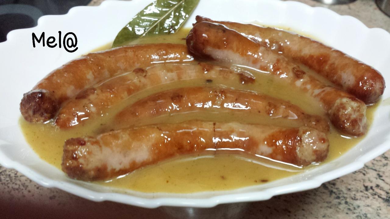 Recetas olla gm y gourmet salchichas frescas al vino - Salchichas frescas en salsa ...