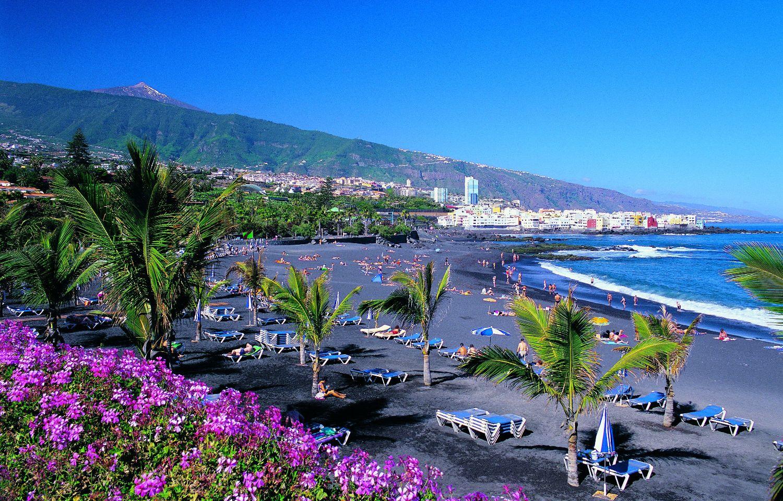 Puerto de la cruz recibe las banderas azules de playa for Jardines tenerife