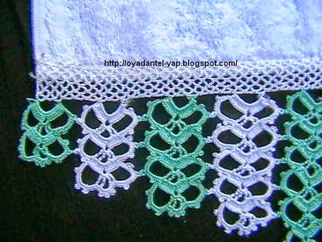 yeşil beyaz havlu danteli,havlu kenarı dantelleri,farklı danteller,havlu kenarları,havlu kenarı dantelleri,dantel,dantal