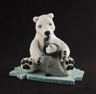 penguin cake topper polar bear custom wedding cake topper