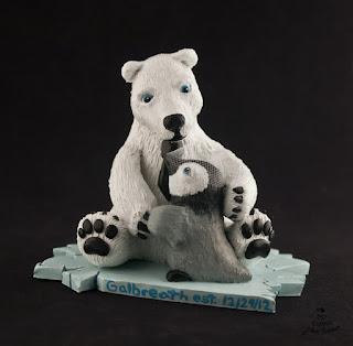 penguin cake topper polar bear custom wedding cake topper