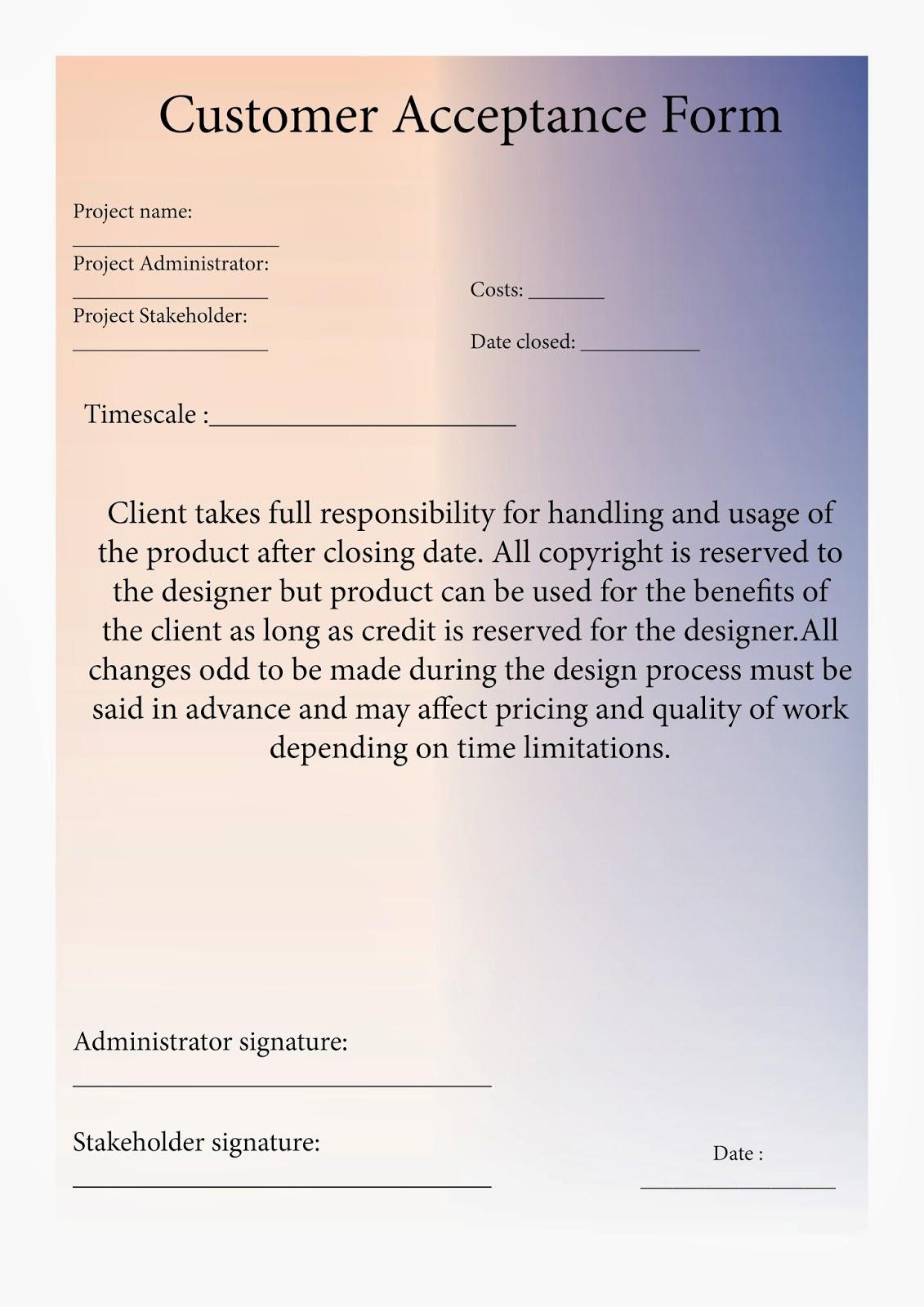 Visual Design – Sign off Form