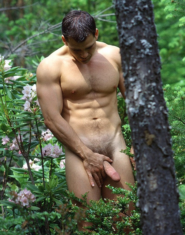 in the woods Nude men