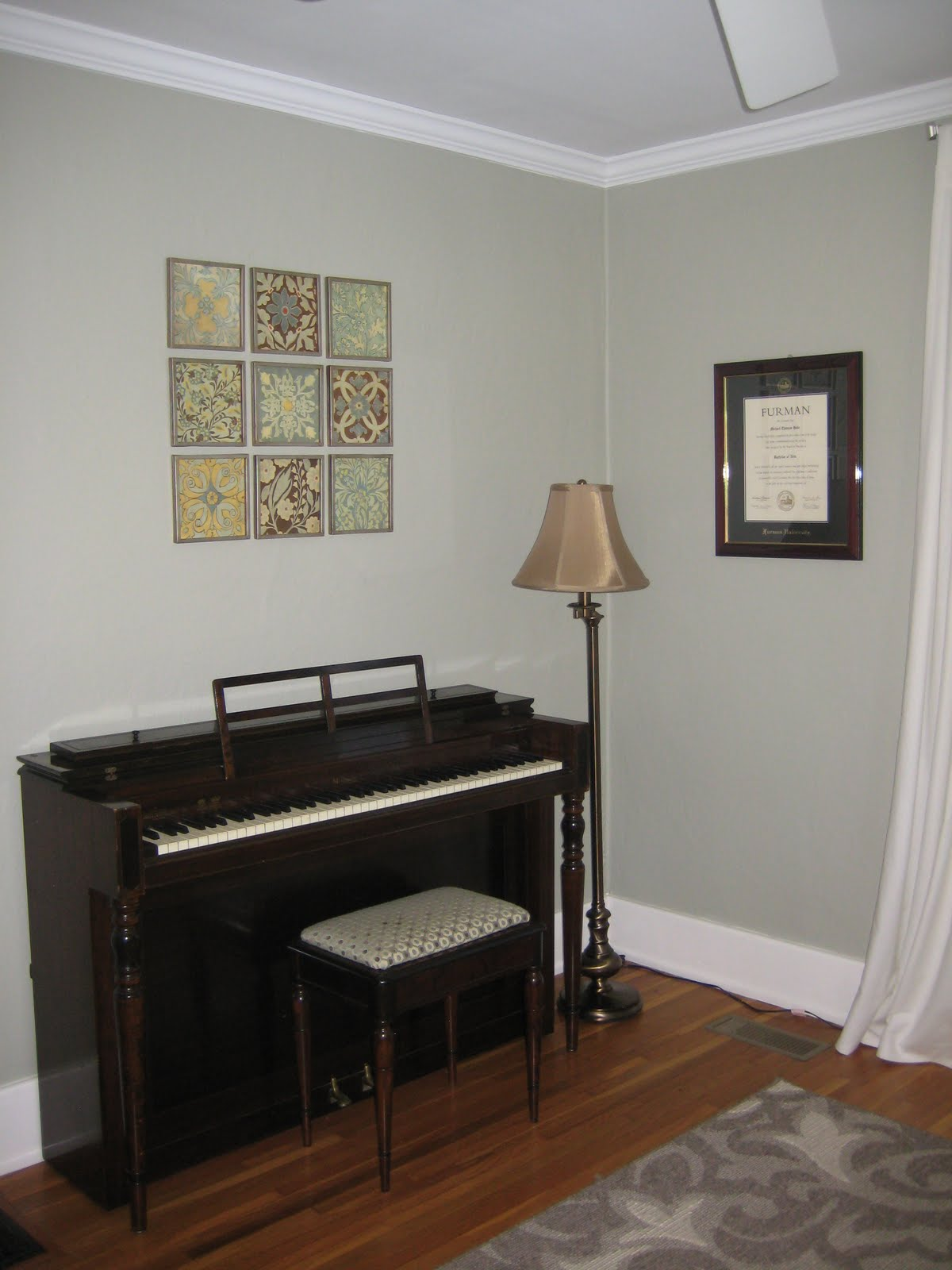 Sherwin williams techno gray missy in pink decorating the study