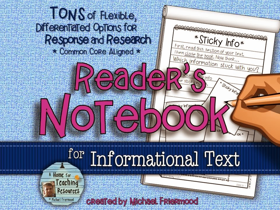 http://www.teacherspayteachers.com/Product/Readers-Notebook-for-Informational-Text-BIG-Resource-for-Response-Research-1045191