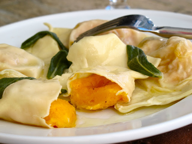 Jenny steffens hobick butternut squash ravioli with sage for What to serve with butternut squash ravioli