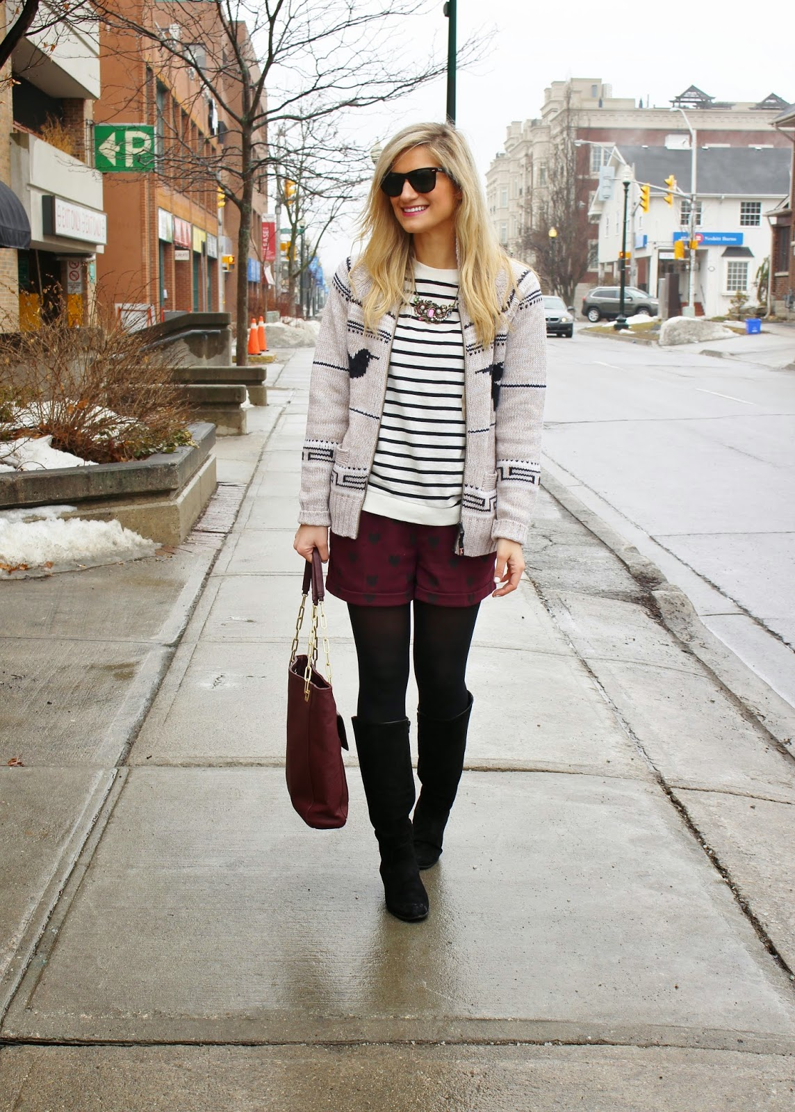bijuleni,streetstyle,Zara,winter shorts, cardigan, winnersfabfinds