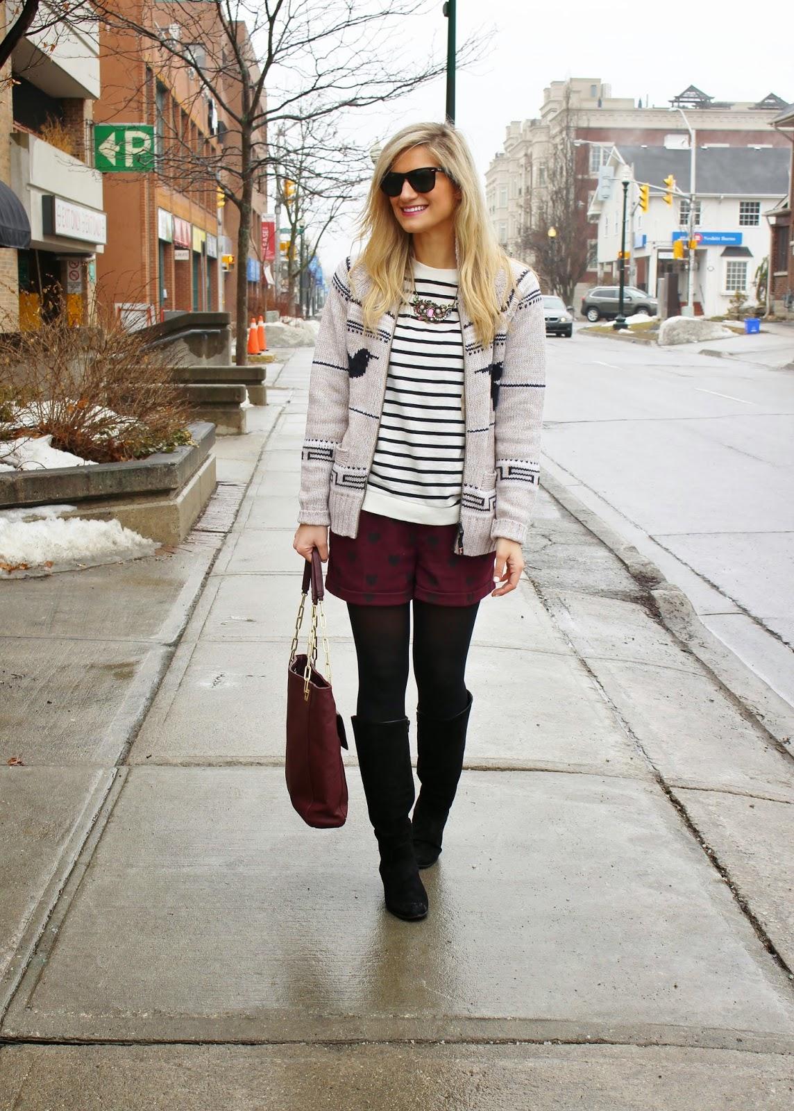 bijuleni,streetstyle,Zara,winter shorts, cardigan, winnersfabfinds