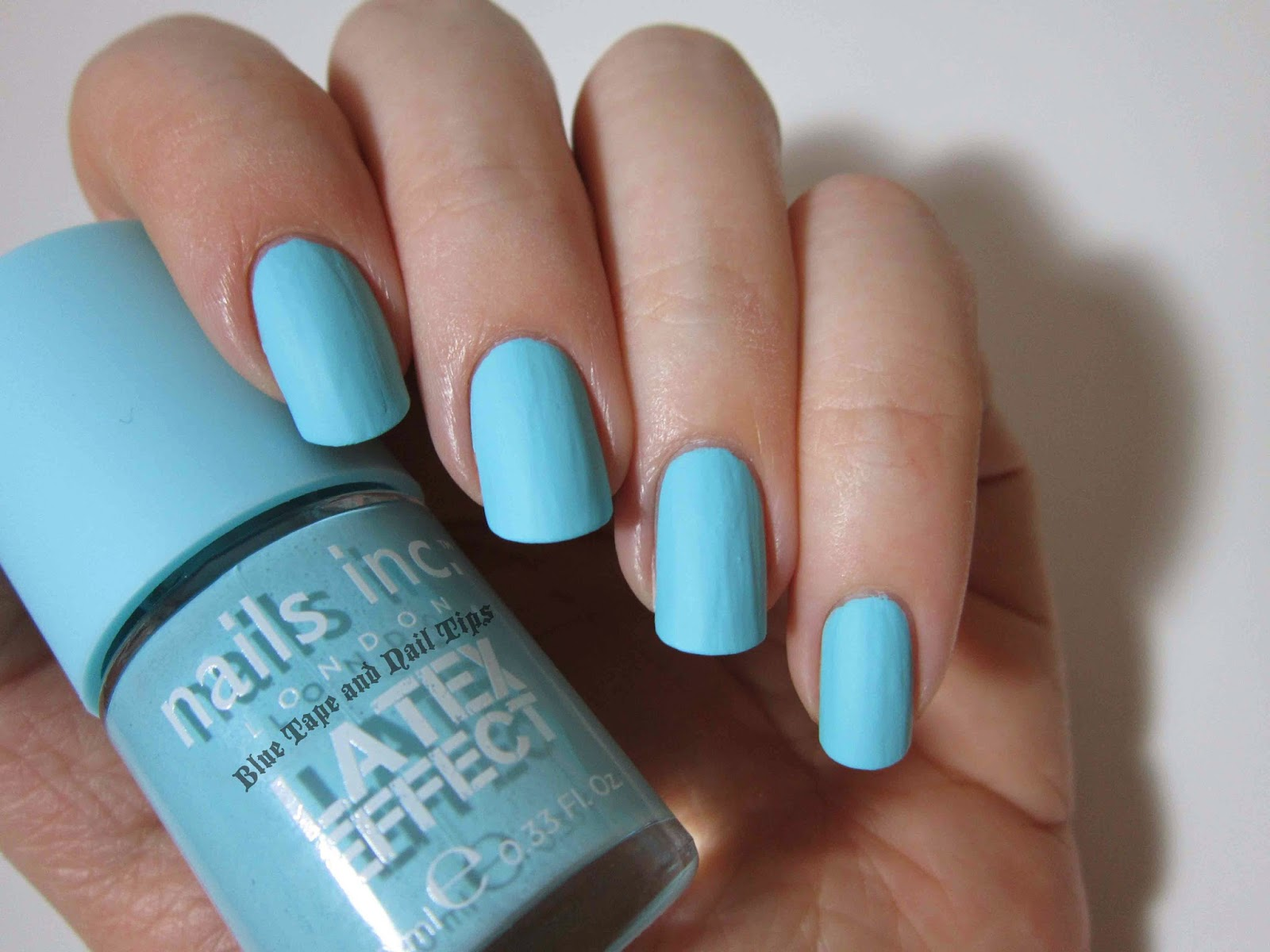 Blue Tape and Nail Tips: Nails Inc. Latex Effect Swatches