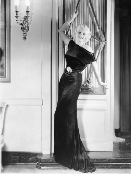 Jean Harlow #1930s #fashion #black #dress #harlow
