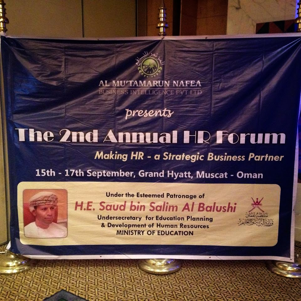 The 2nd Annual HR Forum, Muscat Oman, September 15-17th