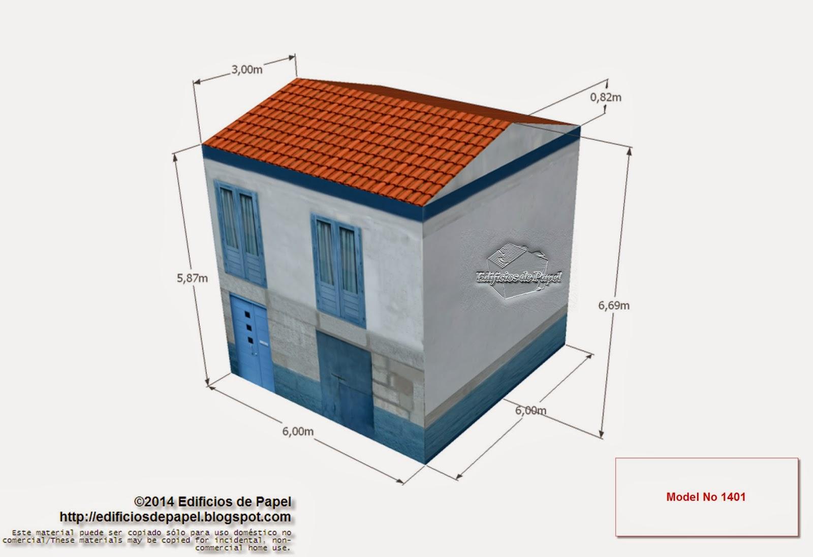 """Edificios de Papel"" - Casa Marítima Azul - Model No: 1401"
