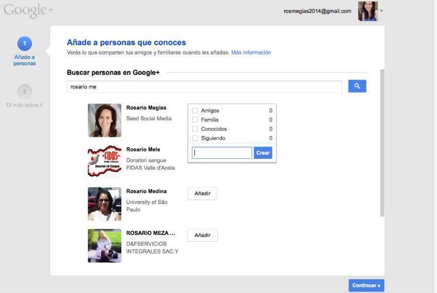 Primeros pasos en Google Plus