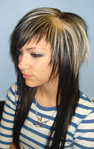 Light Brown Hair Scene. cute scene hairstyles for