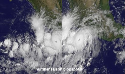 Hurrikan HILARY löst sich von mexikanischer Küste - Sturmwarnung deaktiviert, Hilary, Pazifik, Mexiko, Sturmwarnung, Satellitenbild Satellitenbilder, Hurrikanfotos, Loop, September, aktuell, major hurricane, 2011, Hurrikansaison 2011,