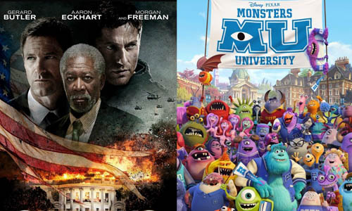 Olympus Has Fallen and Monsters University Posters
