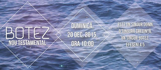 Botez la Biserica Agape Timisoara - 13 decembrie 2015