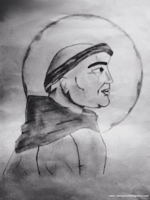 The Holy Man Sketch by Maninder Pal Singh