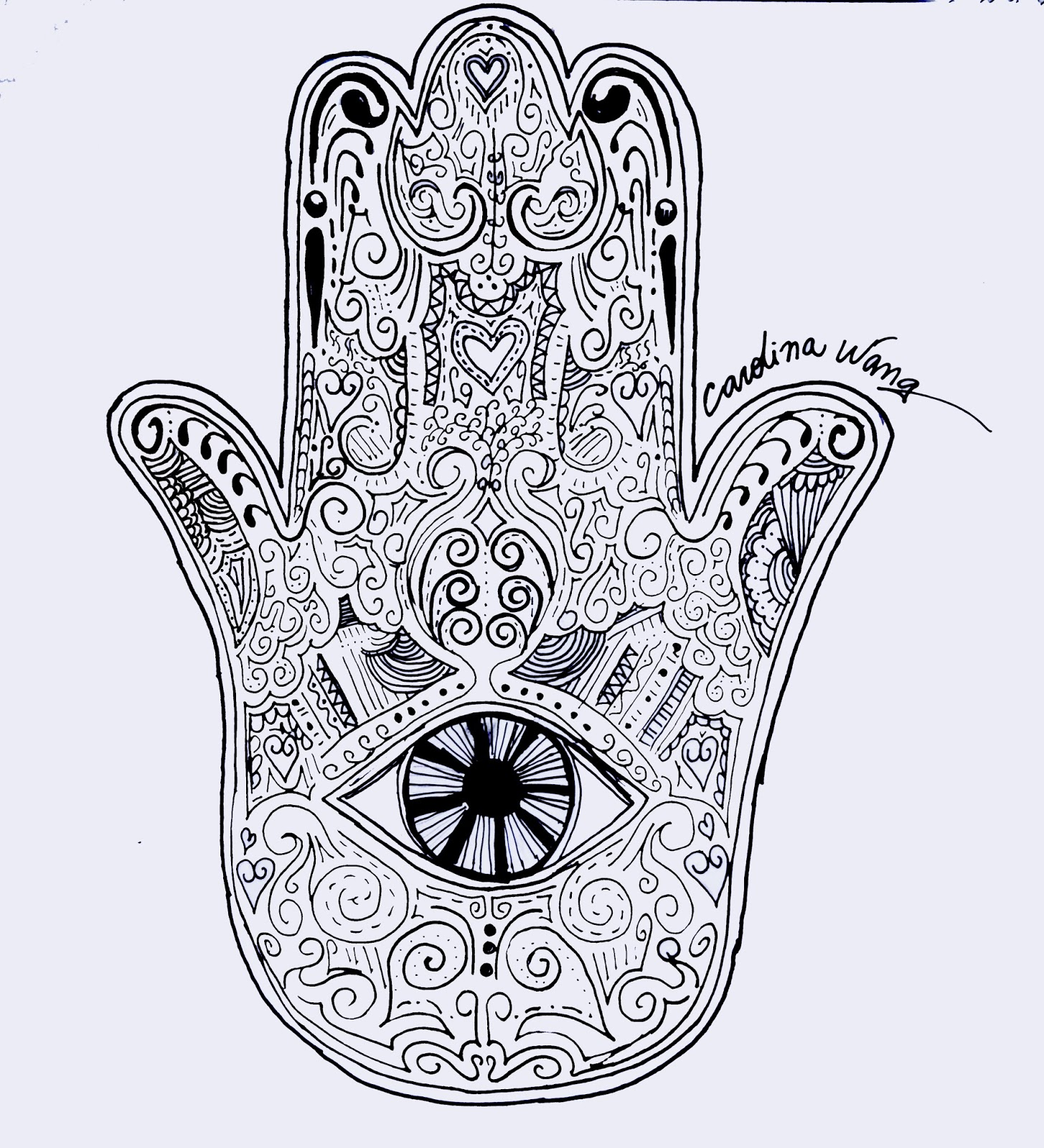 hamsa coloring pages - photo#11