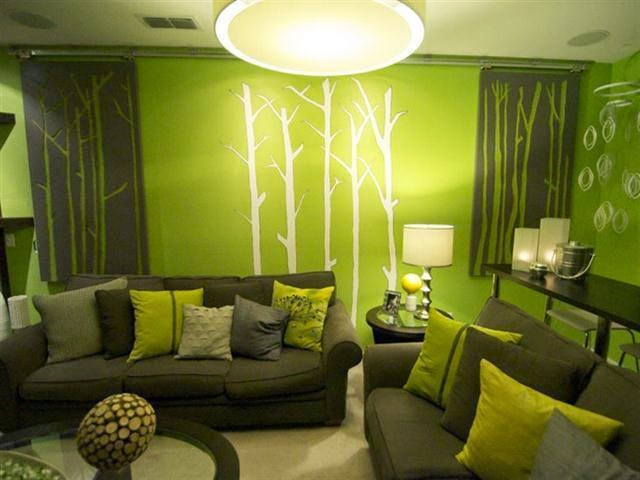 unique wall paint ideas family room