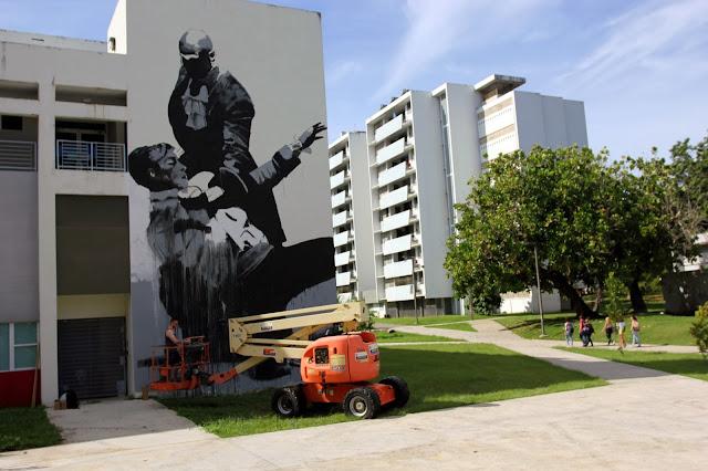Work In Progress By Irish Street Artist Conor Harrington For Los Muros Hablan 2013. 6