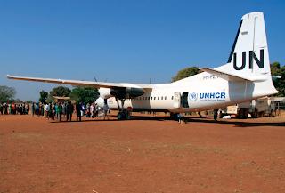 Denim Air Fokker 50 in South Sudan
