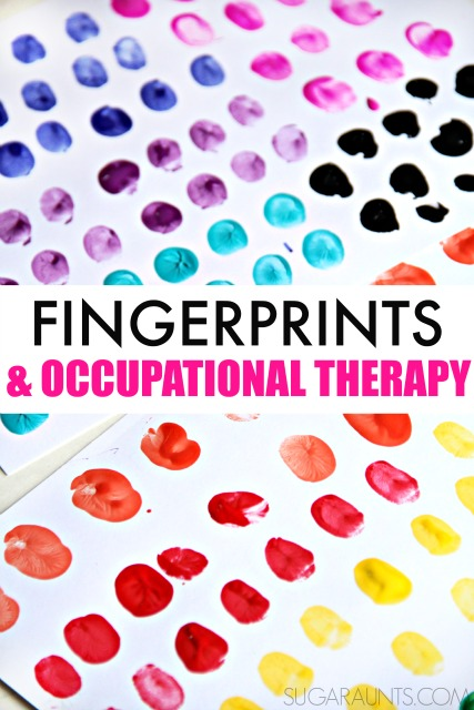 Finger isolation activities and fingerprint fine motor activities for kids to work on developing fine motor skills needed in functional tasks like handwriting, playing instruments, shoe tying, and typing.