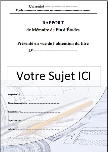Célèbre Docx] Page de garde word pour un rapport de stage (mécanique  LK57