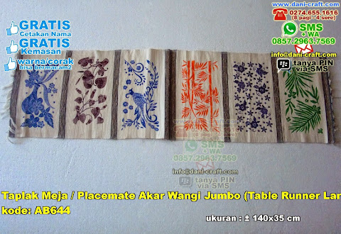 Taplak Meja Placemate Akar Wangi Jumbo Table Runner Large