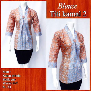 Model Blouse Batik Titi Kamal DBT 4242