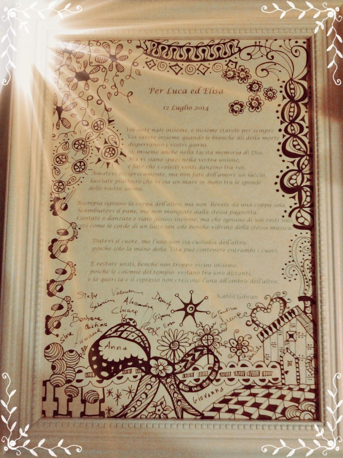 Poesia Sul Matrimonio Del Poeta Kahlil Gibran A Nave Intrepido